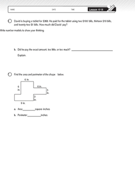 4th Grade Unit 4 Study Guide for Everyday Math 4