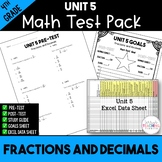 4th Grade Unit 5 Math Test Pack {Paper and Pencil}