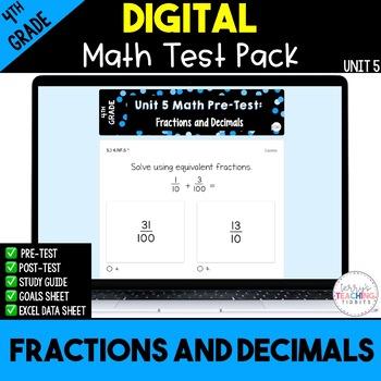 4th Grade Unit 5 Math Test Pack {Paperless}
