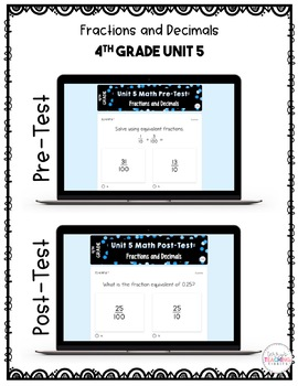 4th Grade Unit 5 Math Test Pack {Paperless}