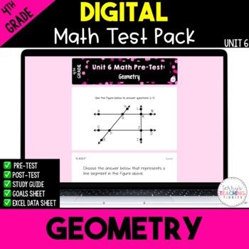 4th Grade Unit 6 Math Test Pack {Paperless}