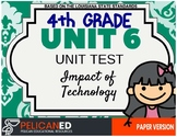 4th Grade - Unit 6 Unit Test - Impact of Technology