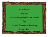 4th Grade Unit 6 Vocab Scott Foresman Reading Street 2011