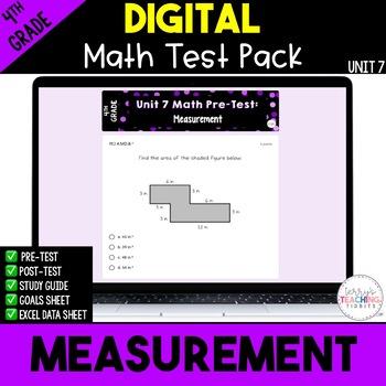 4th Grade Unit 7 Math Test Pack {Paperless}