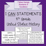 4th Grade United States History - I CAN Statements