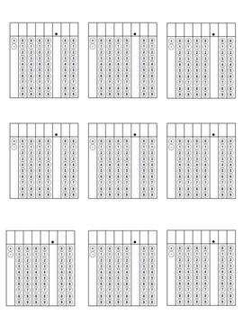 4th Grade & Up Griddable Practice Sheet