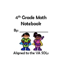 4th Grade VA Math Interactive Notebook 2016 SOLs