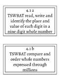 4th Grade VA Math SOL Objective Cards