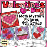 4th Grade Valentine's Day Math Activities: Color By Number