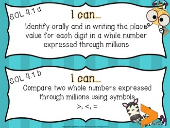 """4th Grade Virginia """"I Can"""" cards- All Subjects!"""