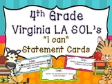 "4th Grade Virginia ""I Can"" cards- Reading & Writing"