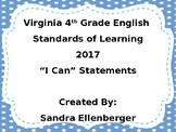 "4th Grade-Virginia English-""I Can"" Statements-2017"