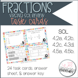 4th Grade Virginia SOL Fraction Review Task Cards