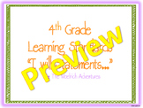 """4th Grade: Virginia SOL """"I will be able to..."""" Statements"""