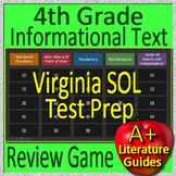 4th Grade Virginia SOL Reading Test Prep Informational Text Review Game