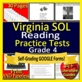 4th Grade Virginia SOL Test Prep Reading Practice TEI Grade 4 VA SOL