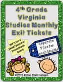 4th Grade Virginia Studies Exit Tickets