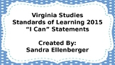 "4th Grade-Virginia Studies-""I Can"" Statements-2015"
