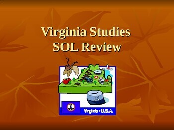 4th Grade Virginia Studies SOL Review