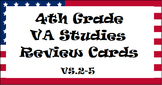 4th Grade Virginia Studies SOL Review Cards (3 sets!) - Updated 2016 SOL's