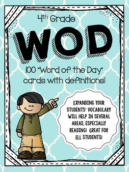 Word of the Day - 4th Grade Vocabulary