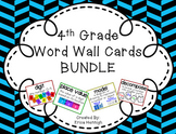 4th Grade Vocabulary Word Wall Cards Sets 1-8 BUNDLE Based