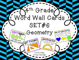 4th Grade Vocabulary Word Wall Cards Set 6:  Geometry TEKS