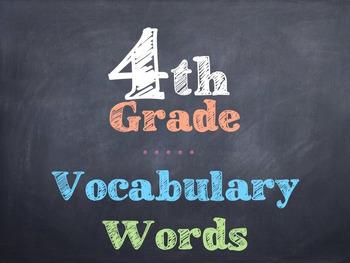 4th Grade Vocabulary Words
