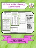 4th Grade Vocabulary Worksheets