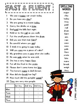 4th Grade WONDERS Fast and Fluent
