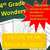 4th Grade WONDERS Spelling and Vocabulary ENTIRE YEAR Bundle (Differentiated)