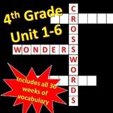 4th Grade WONDERS Unit 1-6 Vocabulary Crosswords Bundle