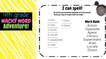 4th Grade Wacky Word Adventure Packet!