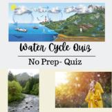 4th Grade Water Cycle Quiz