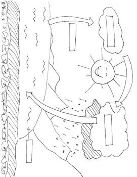 water cycle diagram test 7 5 stefvandenheuvel nl Animal Life Cycle Diagram 4th grade water cycle test by bdhill teachers pay teachers rh teacherspayteachers water cycle diagram to color and label water cycle diagram to label