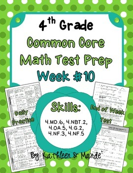 4th Grade: Weekly Test Prep #10 (Daily Practice & Assessment)