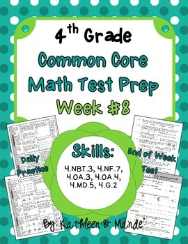 4th Grade: Weekly Test Prep #8 (Daily Practice & Assessment)