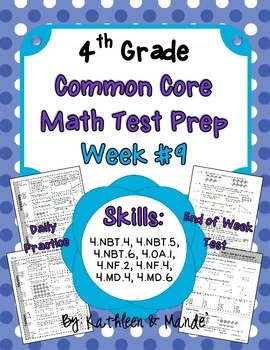 4th Grade: Weekly Test Prep #9 (Daily Practice & Assessment)