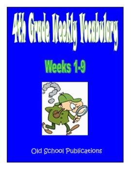 4th Grade Weekly Vocabulary Bundle - Weeks 1-9