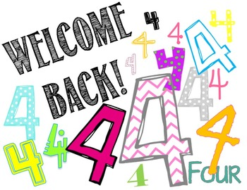 4th Grade Welcome Back Card