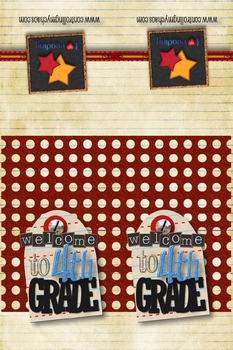 4th Grade Welcome Back to School Bookmarks
