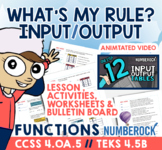 Input Output Tables ★ 4th Grade Activities Mega Bundle ★ Math TEK 4.5B & 4.OA.5