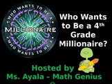 4th Grade Who Wants to Be A Millionaire STAAR Review Quiz Game