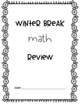 4th Grade Winter Break Common Core Math Review