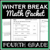 4th Grade Winter Break Math Packet, 4th Grade Math Packet for the Holiday Break