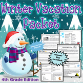 4th Grade Winter Break Vacation Packet {CCSS Aligned}
