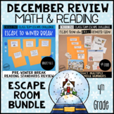 4th Grade Winter Escape Room | Reading and Math Review Game