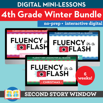 4th Grade Winter Fluency in a Flash GROWING BUNDLE (6wks) • Digital Mini Lessons