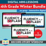 4th Grade Winter Reading Fluency in a FlashBundle (6wks) • Digital Mini Lessons