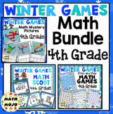 4th Grade Winter Games Math Activities Bundle